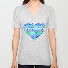 A Sea of Love (white) Unisex V-Neck