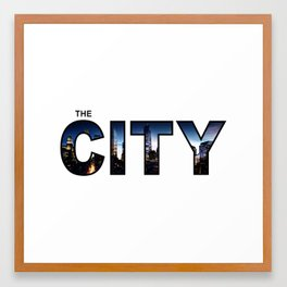 The City - Version 3 Framed Art Print