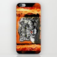 snow leopard iPhone & iPod Skins featuring Snow Leopard by SwanniePhotoArt