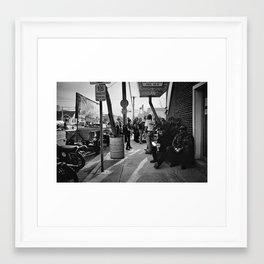 The Race of Gentlemen bw 18 Framed Art Print