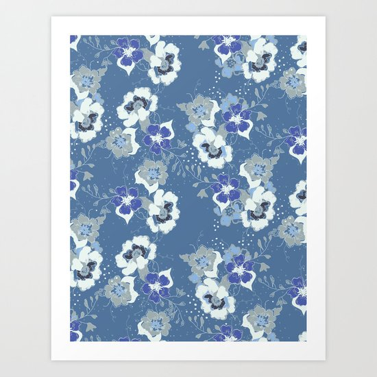 romantic floral Art Print