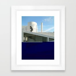 savoye glitch Framed Art Print