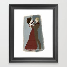 Downton Abbey- Mary & Matthew Framed Art Print