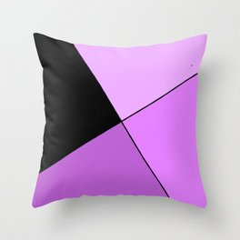 Purple home design Throw Pillow