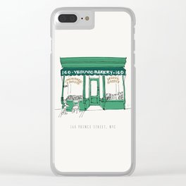 Vesuvio Bakery Storefront, NYC, New York City Clear iPhone Case