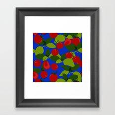 Tomato Basil Pattern Framed Art Print