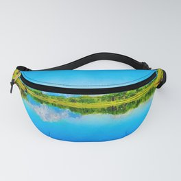 Lake reflections watercolor painting #1 Fanny Pack