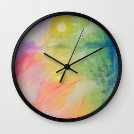Impressions At Sundown Wall Clock