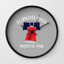 Flipadelphia Wall Clock