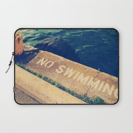 No Swimming Laptop Sleeve
