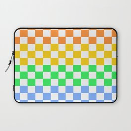 Rainbow Checkers Laptop Sleeve