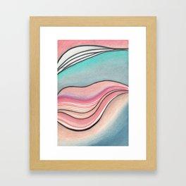 Pastel Marble Framed Art Print