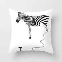 future Throw Pillows featuring future by Panic Junkie