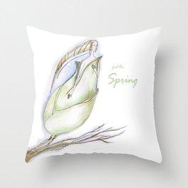 Elf-spring-love-green Throw Pillow