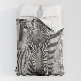 AnimalArtBW_Zebra_20170702_by_JAMColorsSpecial Comforters