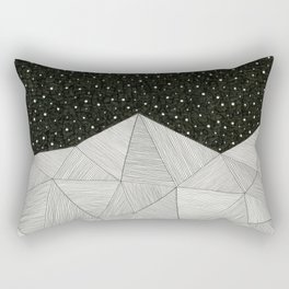 Stripe Mountains Rectangular Pillow