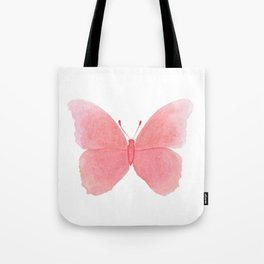Watermelon pink butterfly Tote Bag