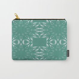 Peacock Green Color Burst Carry-All Pouch