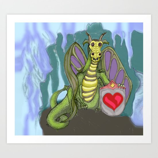 Lovelorn Dragon Art Print