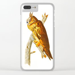 Long-eared Owl Clear iPhone Case