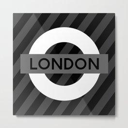 Black and White London Metal Print