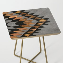 Urban Tribal Pattern No.10 - Aztec - Concrete and Wood Side Table