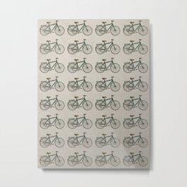 Bikes Patterm Metal Print