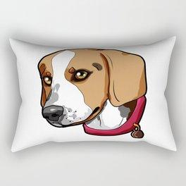 Beagle Dog Puppy Doggie Present funny Cartoon Rectangular Pillow