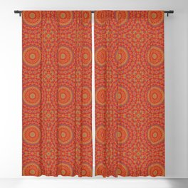 Intricate Red Pattern  With Accents of Lilac and Gold Blackout Curtain