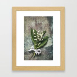 Beautiful Lily Of The Valley Framed Art Print
