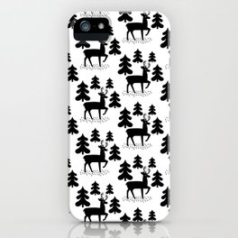 Deer In The Forest Pattern iPhone Case