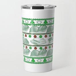 Book Christmas Travel Mug