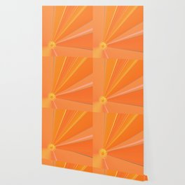 Abstract Golden Sun Flower Wallpaper