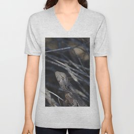 A Bearded Dragon In The Wild Unisex V-Neck