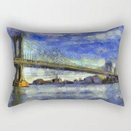 Manhattan Bridge New York Art Rectangular Pillow