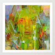 Senza una donna Art Print