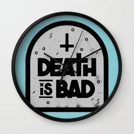 Death is Bad Wall Clock