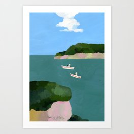 Peaceful sea Art Print
