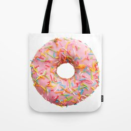 Single pink donut Tote Bag