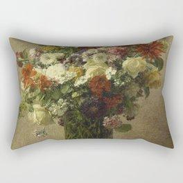 Henri Fantin-Latour - Flowers From Normandy Rectangular Pillow