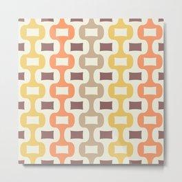 Colorful Mid Century Modern Ogee Pattern 335 Metal Print