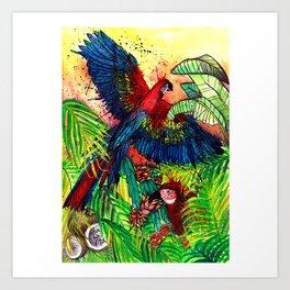 Macaw with Pitahaya, Viva la Vida Art Print