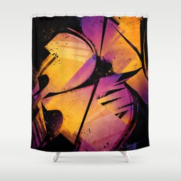 B--Abstract Shower Curtain