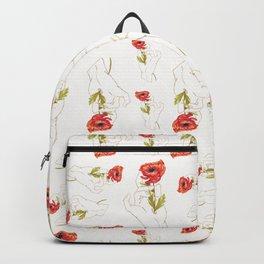 Light Poppy Gilded Hand Backpack