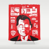 stephen king Shower Curtains featuring Anthology of a King by tim weakland