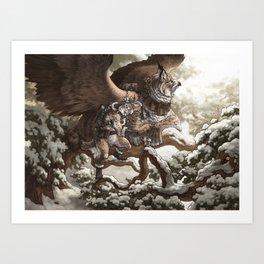 Lynx Mail Art Print