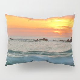 Golden sunset with turquoise waters Pillow Sham