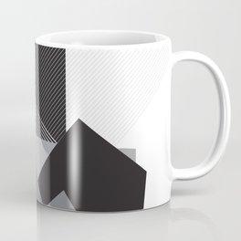 Black and White Triangles Coffee Mug