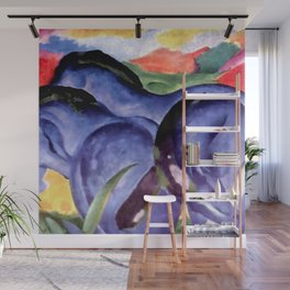 """Franz Marc """"The Large Blue Horses"""" Wall Mural"""
