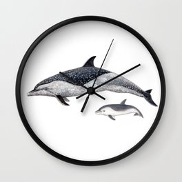 Pantropical spotted dolphin Wall Clock